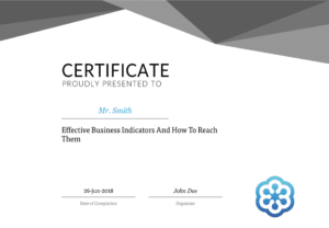 GoToWebinar Certificate of Completion for audience engagement